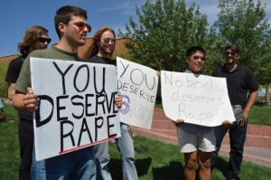 """YOU DESERVE RAPE"" - Photo courtesy of http://www.wildcat.arizona.edu/"